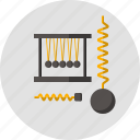 dynamometer, impulse, pendulum, physics, plummet, science, spring icon