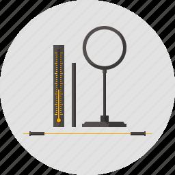 amplifier, ebony wand, lab, laboratory, lens, physics, ray icon