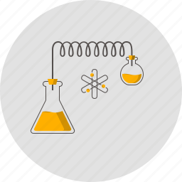 atom, bulb, chemistry, flask, lab, molecular, physics icon