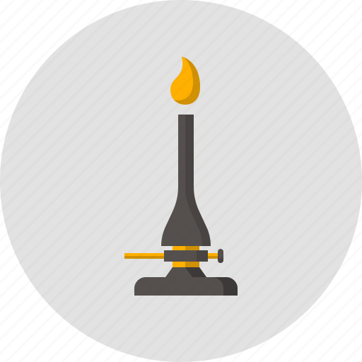 burner, fire, flame, gas-jet, lab, physics, torch icon