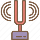 education, fork, physics, science, sound icon
