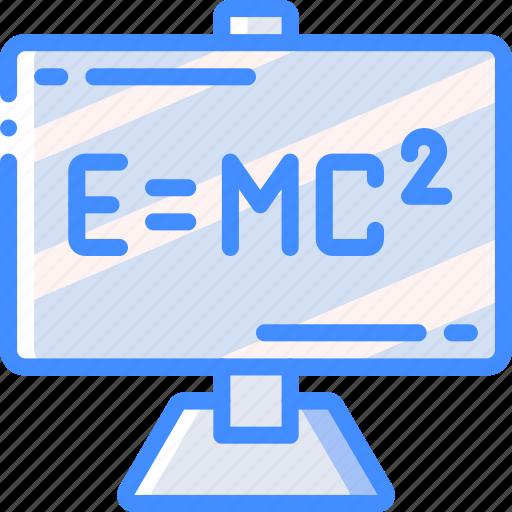 education, formula, physics, science icon
