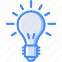 bulb, education, electric, physics, science icon