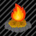 bonfire, fire, firewood, flame, heat icon