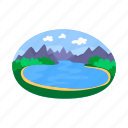 landscape, picnic, relaxation, vacation icon