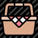 basket, camping, fun, outdoor, picnic icon