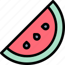 camping, fun, outdoor, picnic, watermelon icon