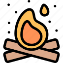 bonfire, camping, fun, outdoor, picnic icon