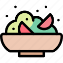 camping, fun, outdoor, picnic, salad icon