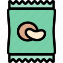 camping, chips, fun, outdoor, picnic icon