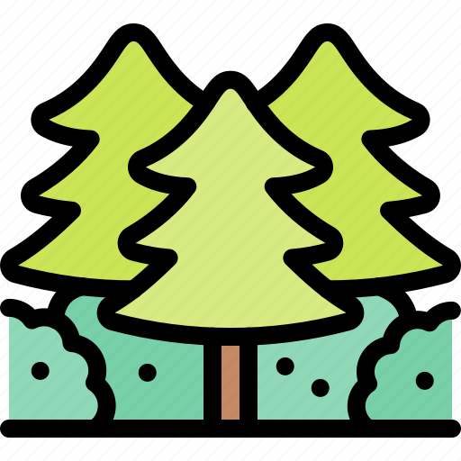 forest, jungle, nature, trees, wild icon