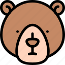 bear, forest, jungle, nature, wild icon