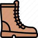 boots, forest, jungle, nature, wild icon