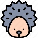 forest, hedgehog, jungle, nature, wild icon
