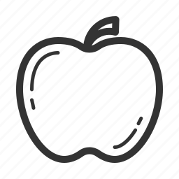 apple, fruit, picnic icon