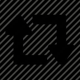 arrows, repeat icon