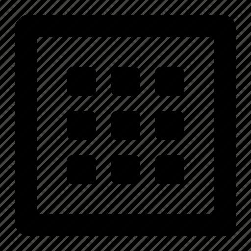 grid, square icon
