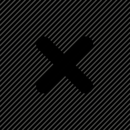 close, cross, no icon