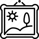 art, artwork, gallery, hanged, museum, photography icon