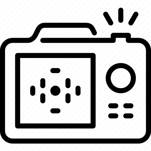 camera, digital camera, display, dslr, photo camera, photography, snapshot icon