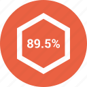 percent, rate, revenue icon