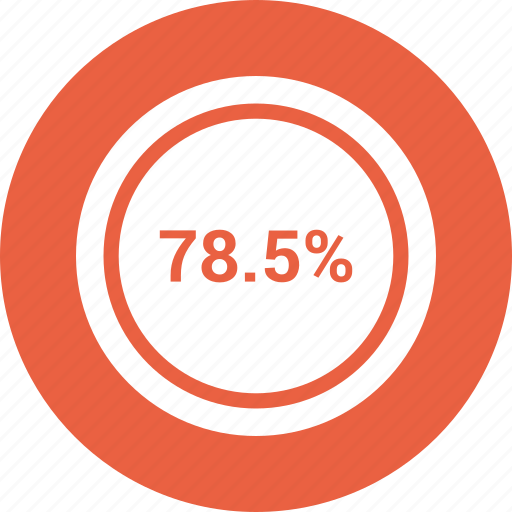 percent, rate, revenue, seventy eight icon