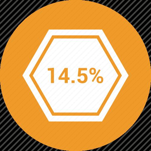 data, fourteen, information, percent icon