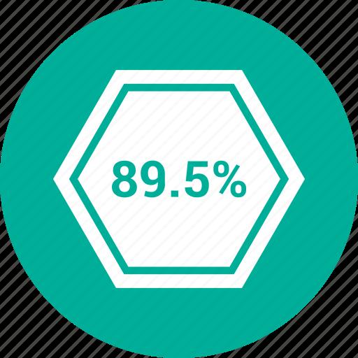 eighty nine, percent, rate, revenue icon