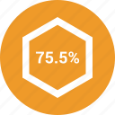 data, information, percent, seventy five icon