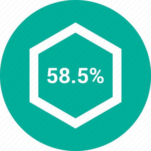 data, fifty eight, information, percent icon