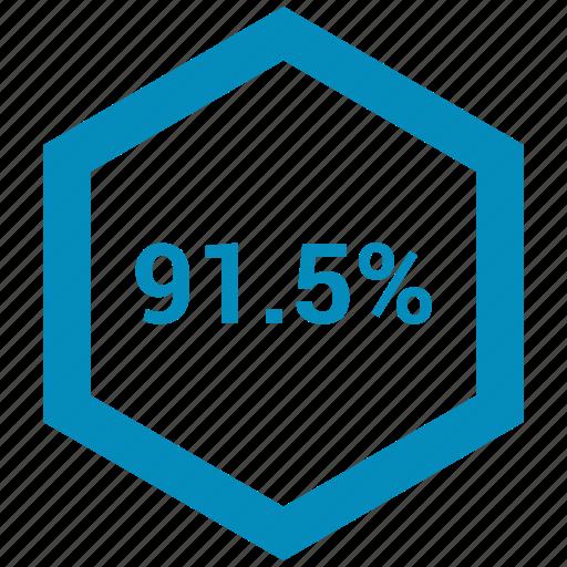 data, information, ninety one, percent icon