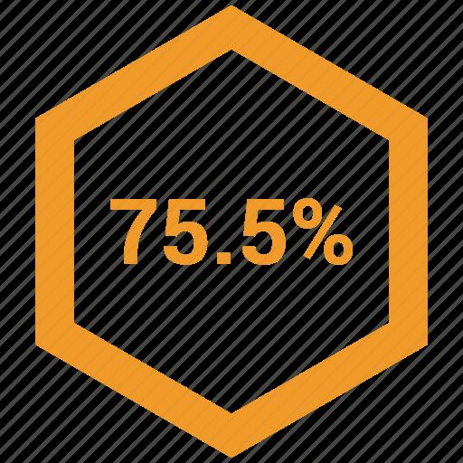 data, information, percent, seventy five icon