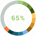 analystic, chart, pie, pie chart, report icon