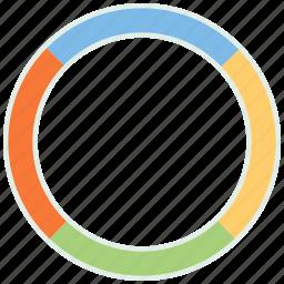 analysis, chart, graph, pie, pie chart, report icon