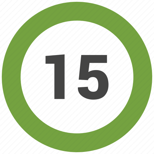 chart, count, fifteen, number icon