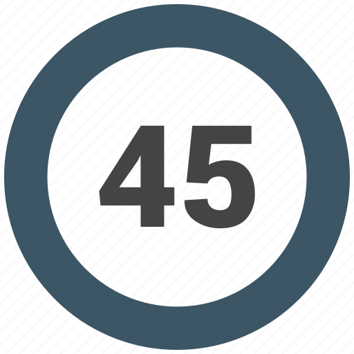 chart, count, forty five, number icon