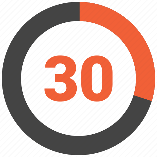 circular chart, infographic, pie chart, pie graph, thirty icon
