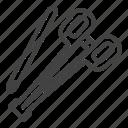 body, equipment, needle, piercing, tools icon