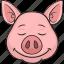 animal, cartoon, cute, emoji, pig icon