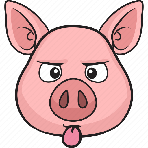 animal cartoon cute emoji pig icon