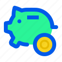 bank, cash, coin, piggy, save, saving