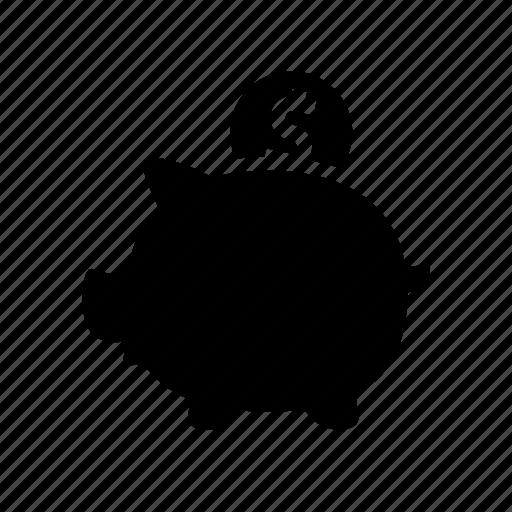 bank, banking, coin, dollar, money, piggy, saving icon