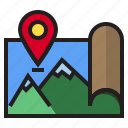 location, map, picture, pin icon