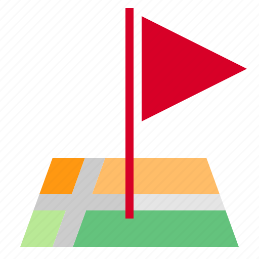 flag, map, mark, pin icon