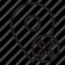 error, location, mark, pin icon