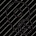 left, location, map, mark, pin icon