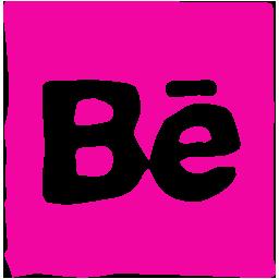behance, ink, media, pen, social icon