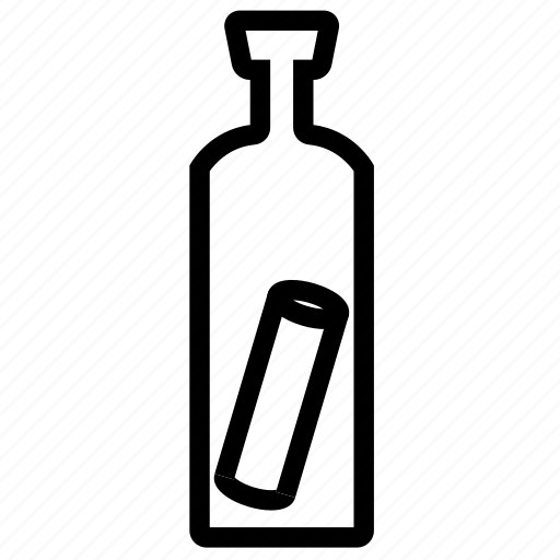 Adventure, bottle, message, ocean, pirate icon - Download on Iconfinder