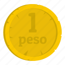 coin, commerce, currency, finance, mexican, money, peso icon