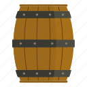 aged, alcohol, beer, beverage, cider, wooden, wooden barrel icon